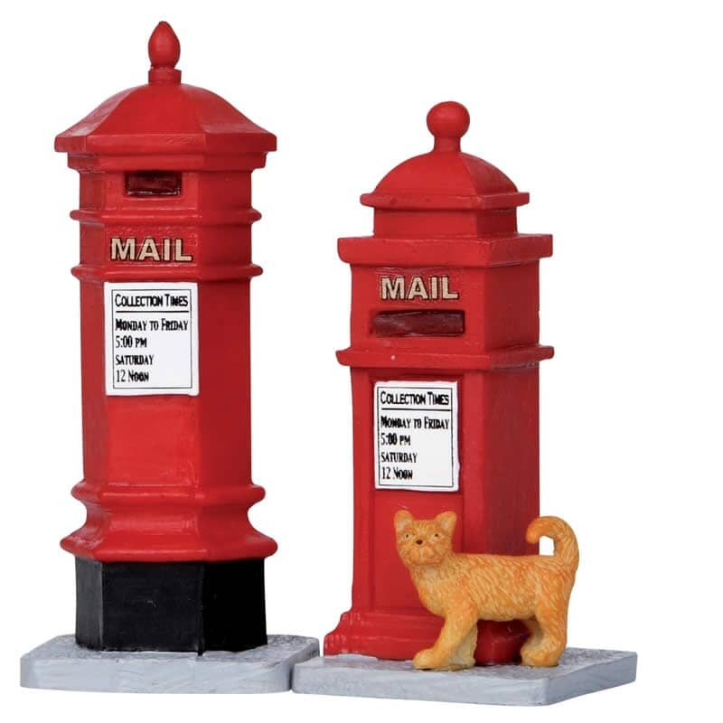 Lemax - Victorian Mail Boxes Set Of 2