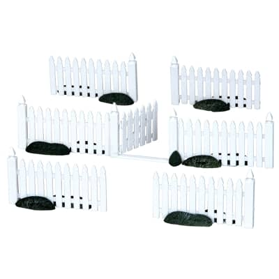 Lemax - Plastic Picket Fence Set Of 7