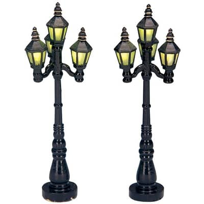 Lemax Old English Street Lamp Set Of 2 B O 4 5v