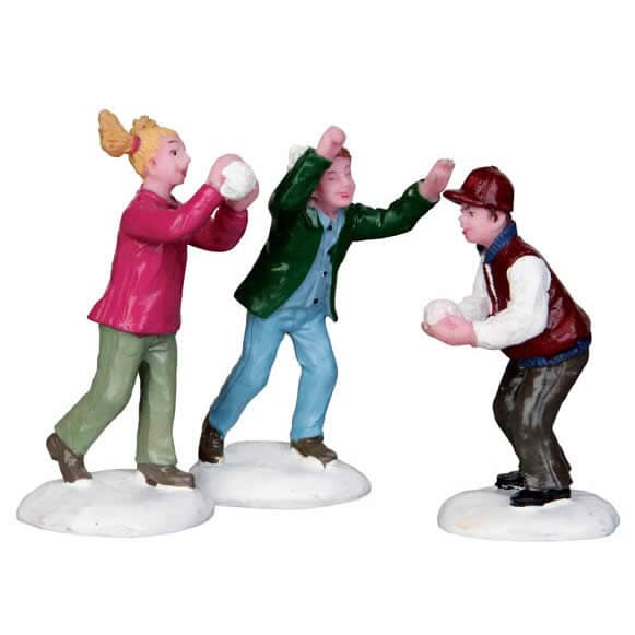Lemax - Snowball Fight! Set Of 3