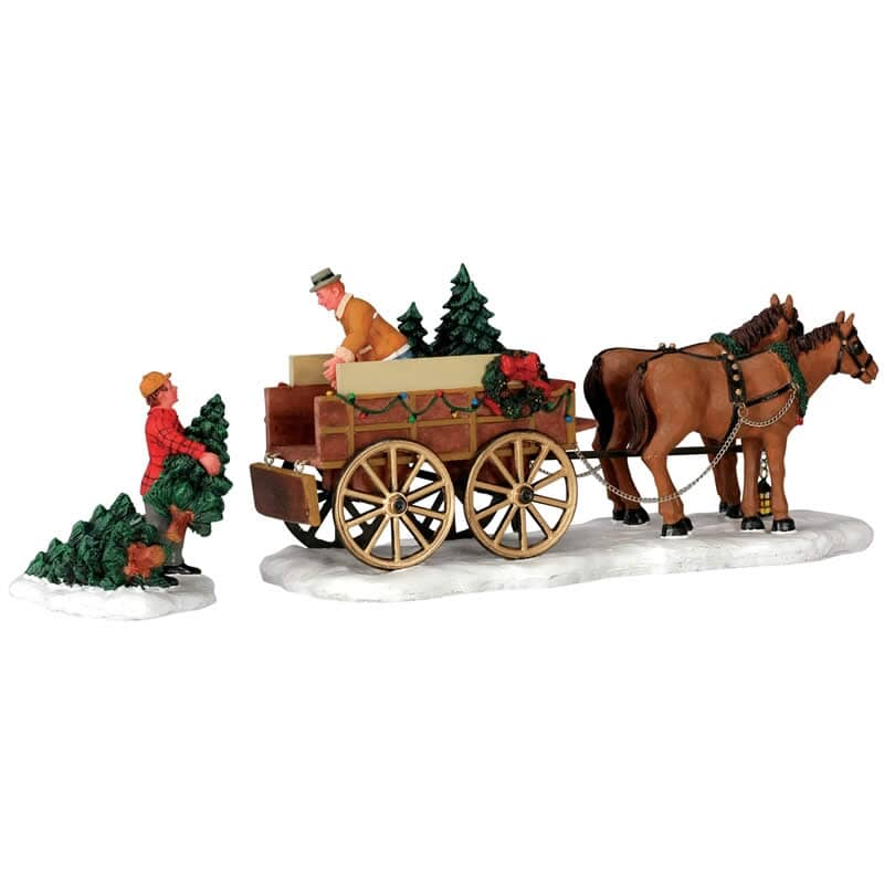 Lemax - Christmas Tree Wagon Set Of 2