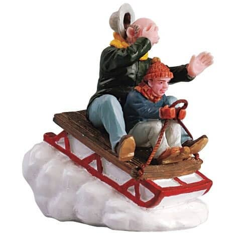 Lemax - Sledding With Gramps