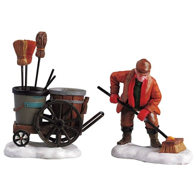 Lemax - Street Sweeper Set Of 2