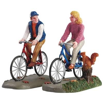 Lemax - Romantic Bike Ride Set Of 2