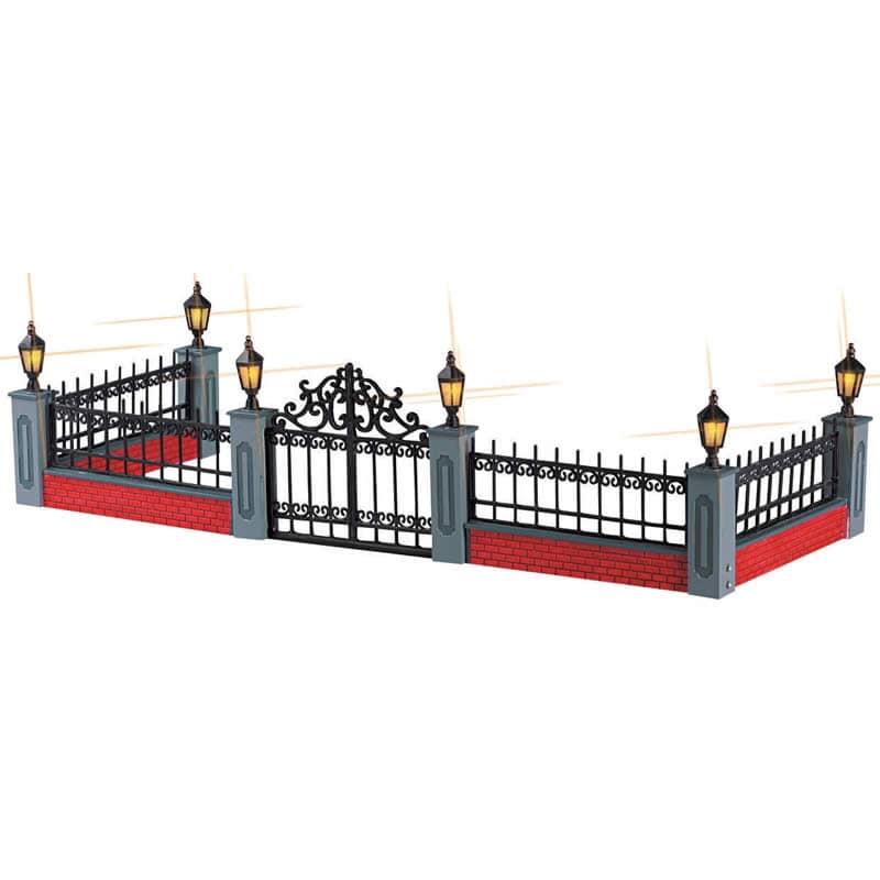 Lemax - Lighted Wrought Iron Fence Set5 B/O (4.5V)