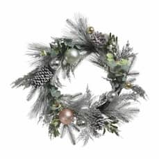 Kaemingk 70cm Wreath Pinecones And Baubles