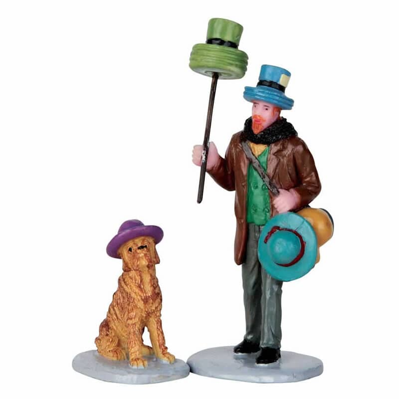 Lemax - Hat Peddler Set Of 2