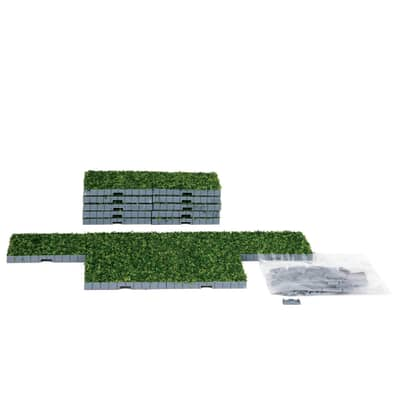 Lemax - Plaza System (Grass Square) - 16 Pcs