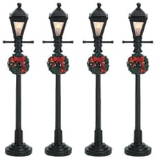 Lemax - Gas Lantern Street Lamp Set Of 4 Bo (4.5V)