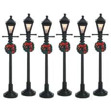 Lemax - Gas Lantern Street Lamp Set Of 6 Bo (4.5V)
