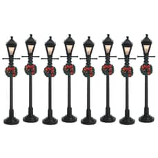Lemax - Gas Lantern Street Lamp Set Of 8 Bo (4.5V)