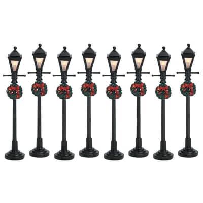 Lemax - Gas Lantern Street Lamp Set Of 8 B/O (4.5V)