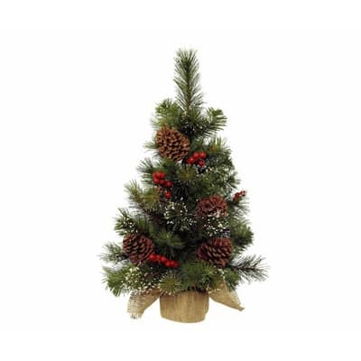 Kaemingk 60cm Mini Tree Berry/Pinecone