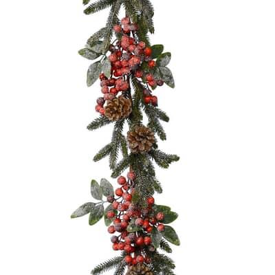 Kaemingk 1.8m Berry/Snow Garland