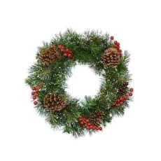 Kaemingk Snowy Wreath Berries - Pinecones