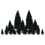 Lemax - 21 pc Assorted Fir Trees