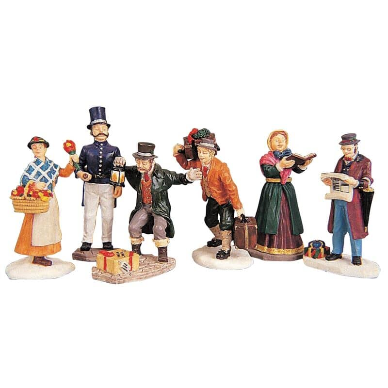 Lemax - Townsfolk Figurines Set Of 6