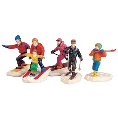 Lemax - Winter Fun Figurines - Set Of 5