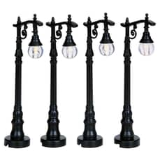 Lemax - Antique Street Lamp Set Of 4 Bo (4.5V)