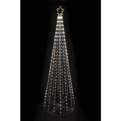 Floral Silk Cone Tree W/Star MF398LED 205 Multi Function Outdoor Use